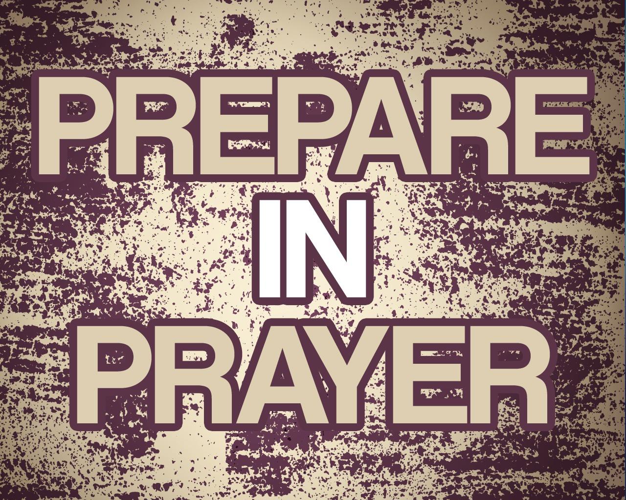 'Prepare in Prayer' Sunday School lesson (Nehemiah 1)