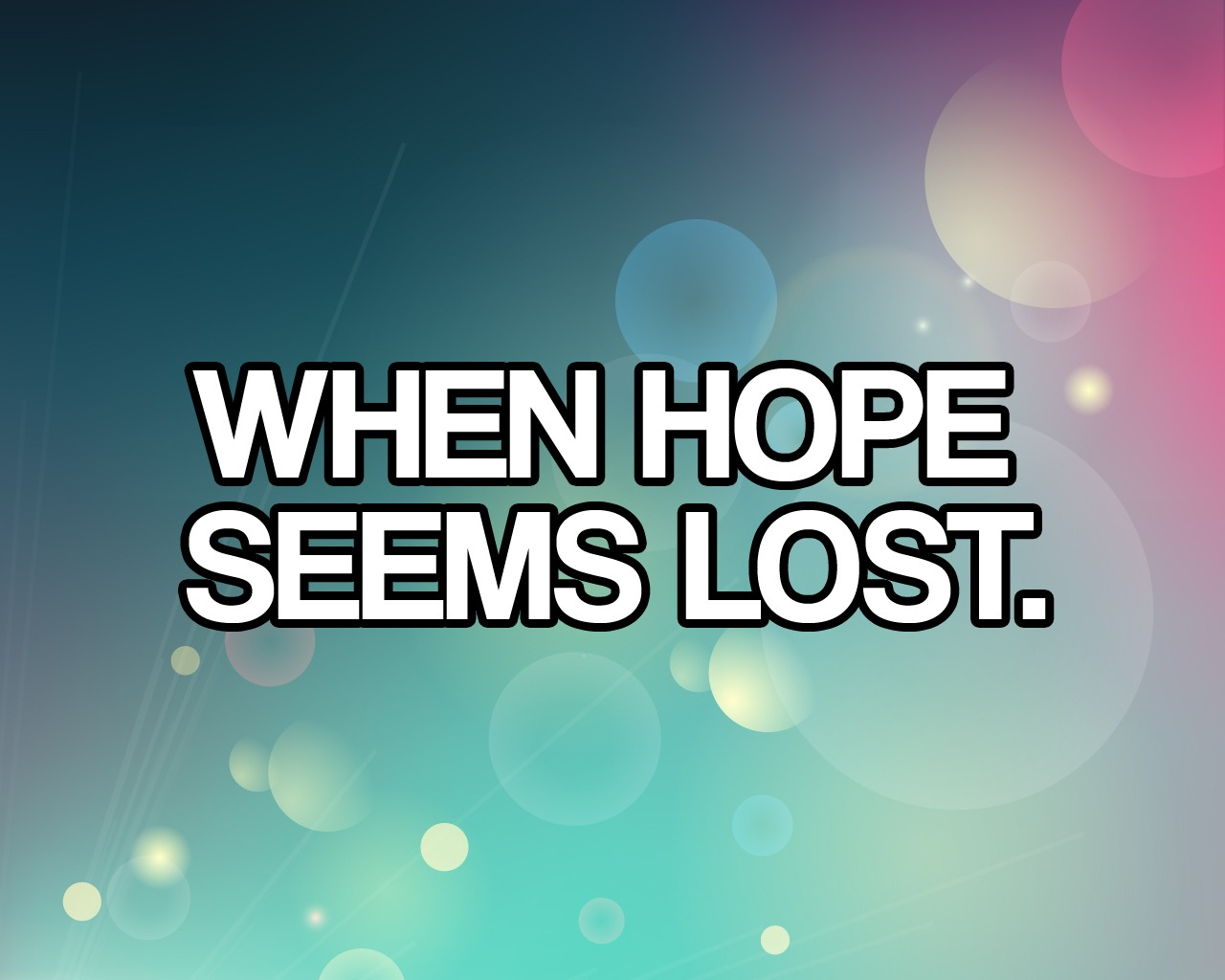 'When Hope Seems Lost' Childrens Lesson on Exodus 5.