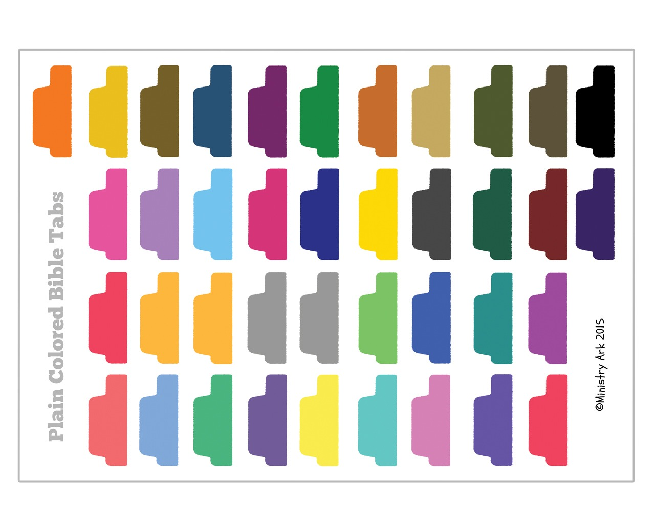 Plain Colored Bible Tabs