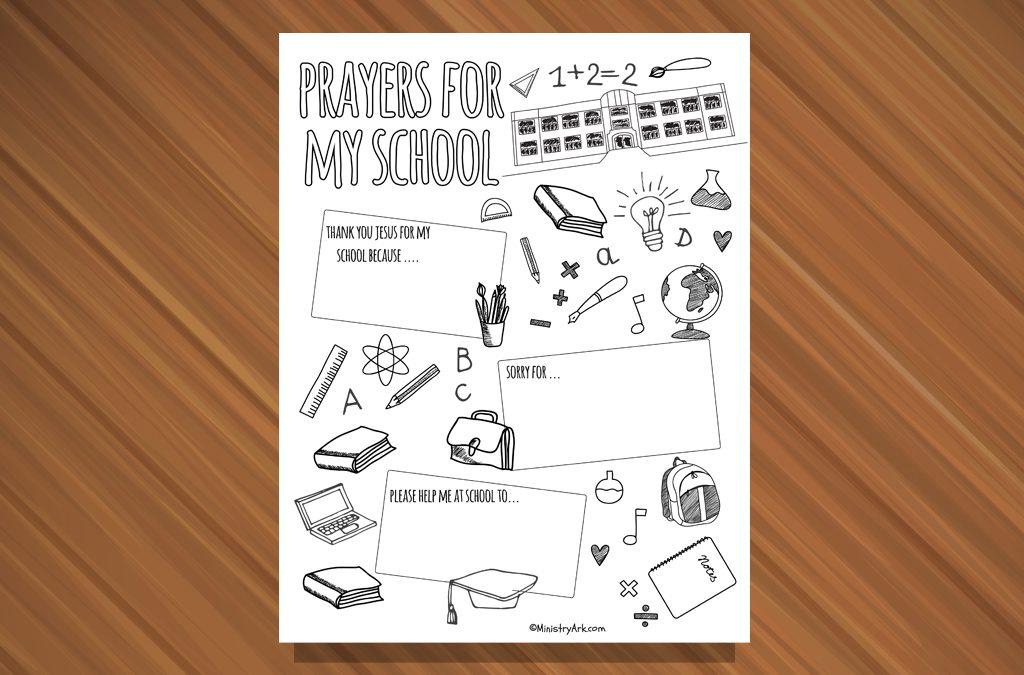Prayers for My School Printable