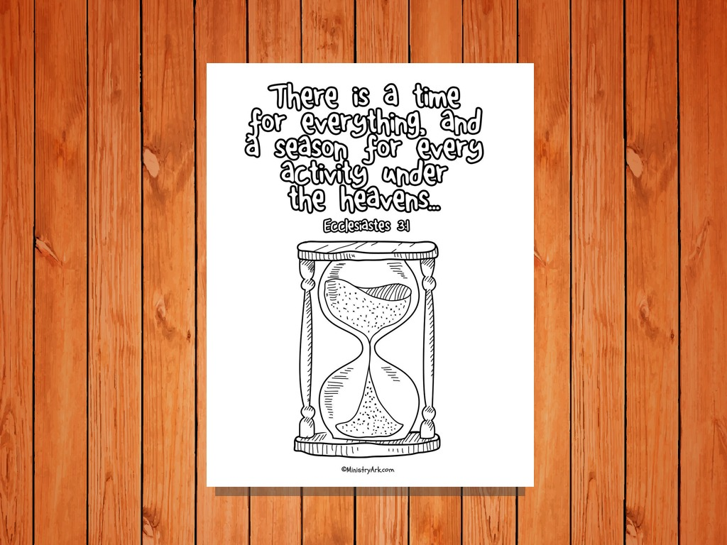 39 A Time for Everything 39 Printable