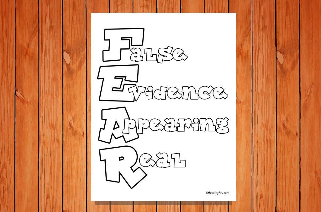 F.E.A.R Printable