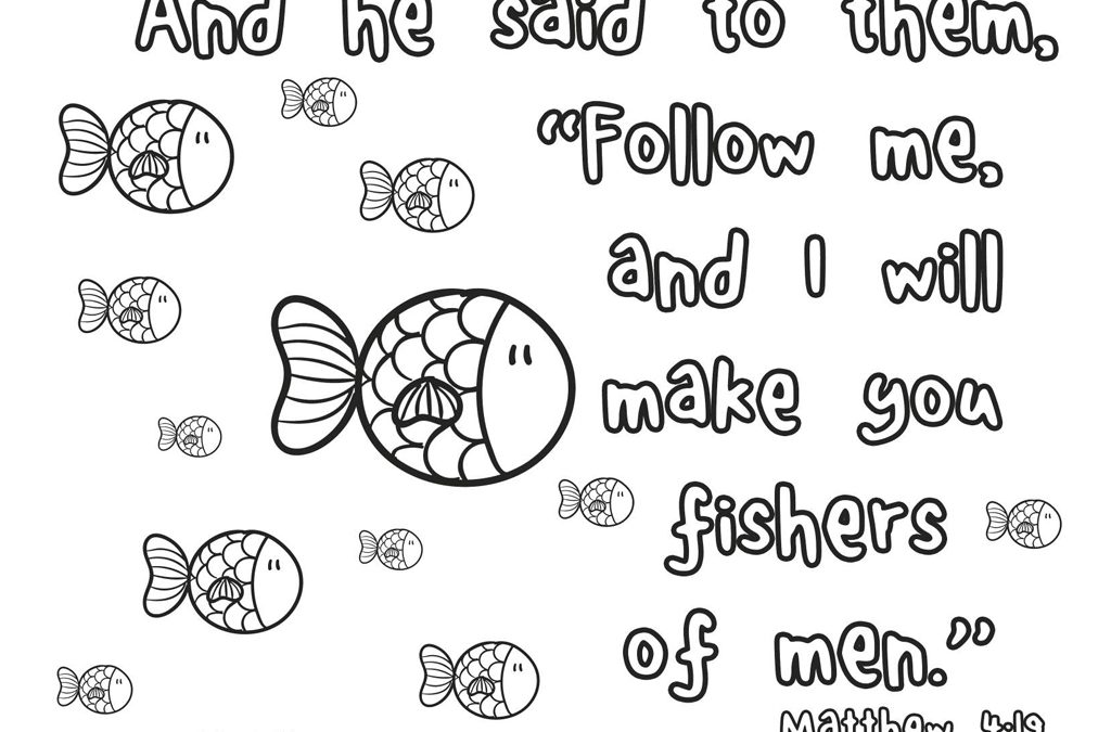 Fishers of Men\' Printable (Matthew 4:19) • MinistryArk