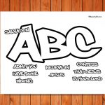 Salvation ABC Printable Coloring Page