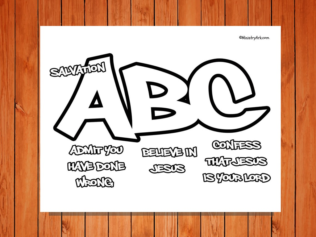 salvation abc printable coloring page u2022 ministryark