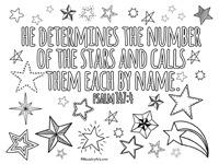 Psalm 147:4 Printable