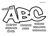 ABC's of Salvation Printable