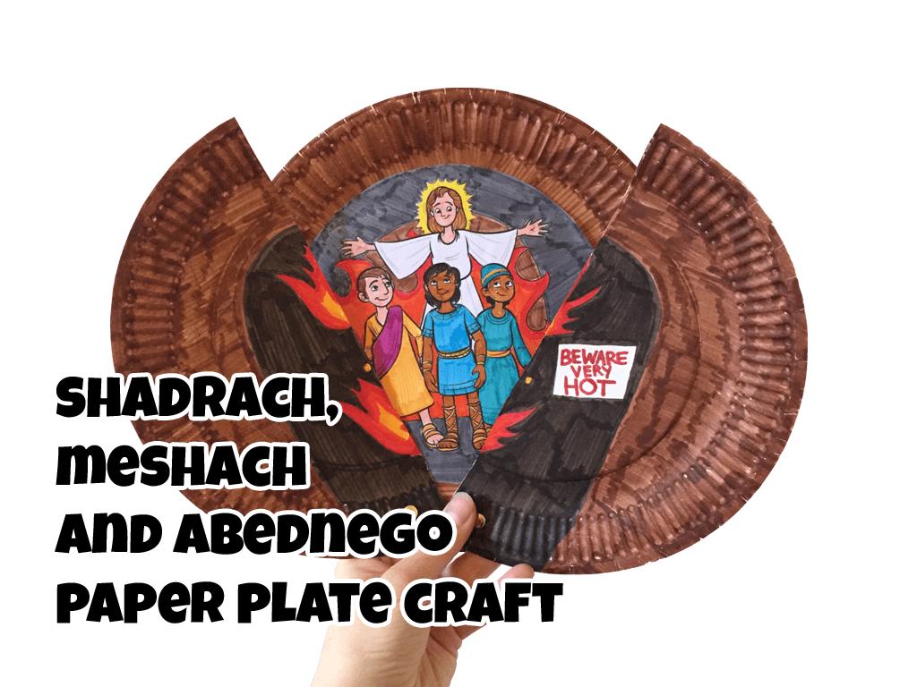 shadrach meshach and abednego paper plate craft u2022 ministryark