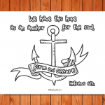 'Anchor for the Soul' Printable (Hebrews 6:19)