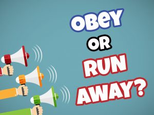 Click here for the 'Obey or Run Away?' powerpoint title image