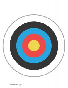 Yellow Red Blue Black Target