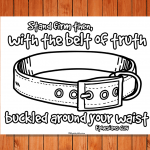 'Belt of Truth' Printable