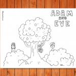 'Adam and Eve' Printable