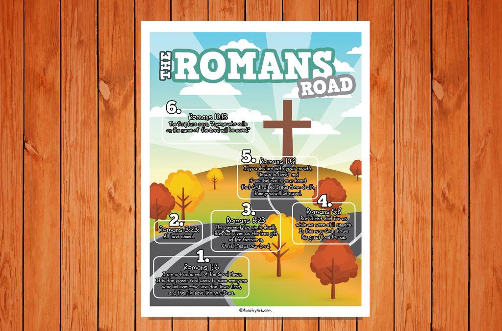 'Romans Road' Childrens Poster