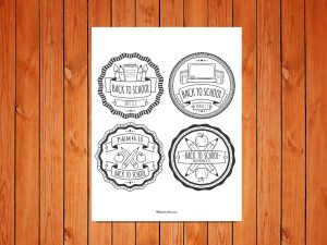 Click here for the 'Back to School' Badges Printable
