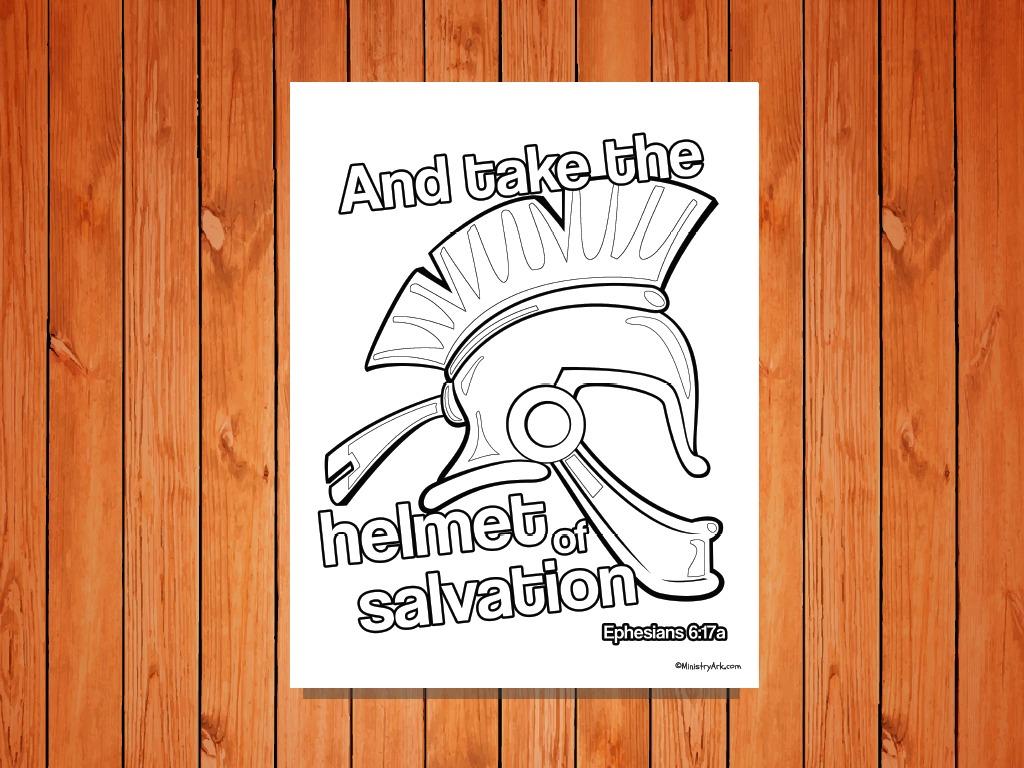 Helmet of Salvation\' Printable (Ephesians 6:17a) • MinistryArk