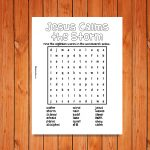 'Jesus Calms the Storm' Printable Wordsearch