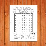 'The Lost Sheep' Wordsearch Printable