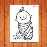 'Baby Moses' Printable