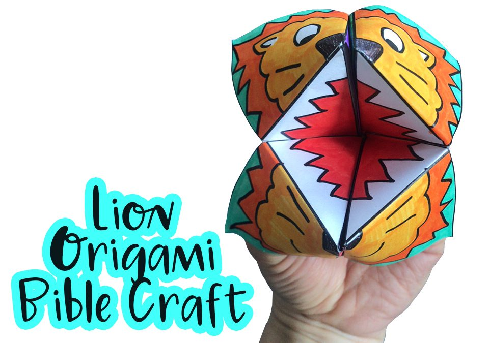 Lion Origami Bible Craft MinistryArk