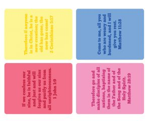 Click here for the 3x4 inch bible verse cards!