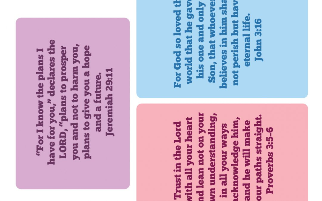 6 x 4 inch Memory Verse Bible Cards