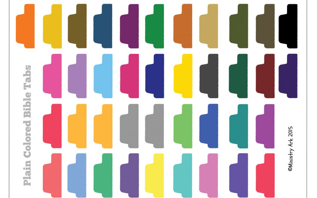 graphic about Printable Bible Tabs named Undeniable Coloured Bible Tabs MinistryArk