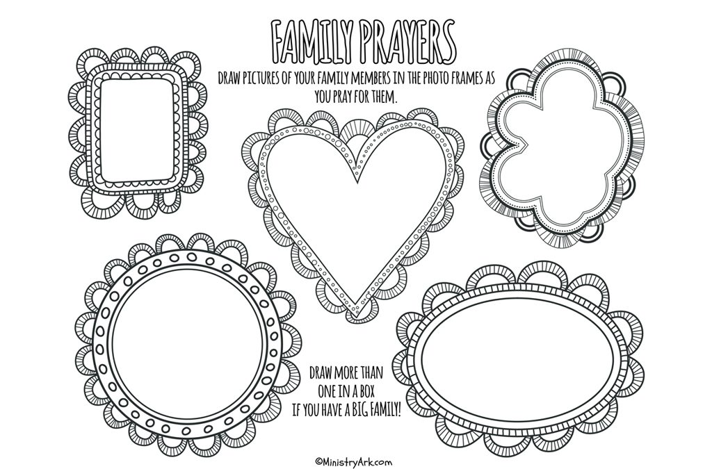 Family Prayers Printable