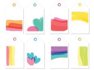 watercolor bible tags
