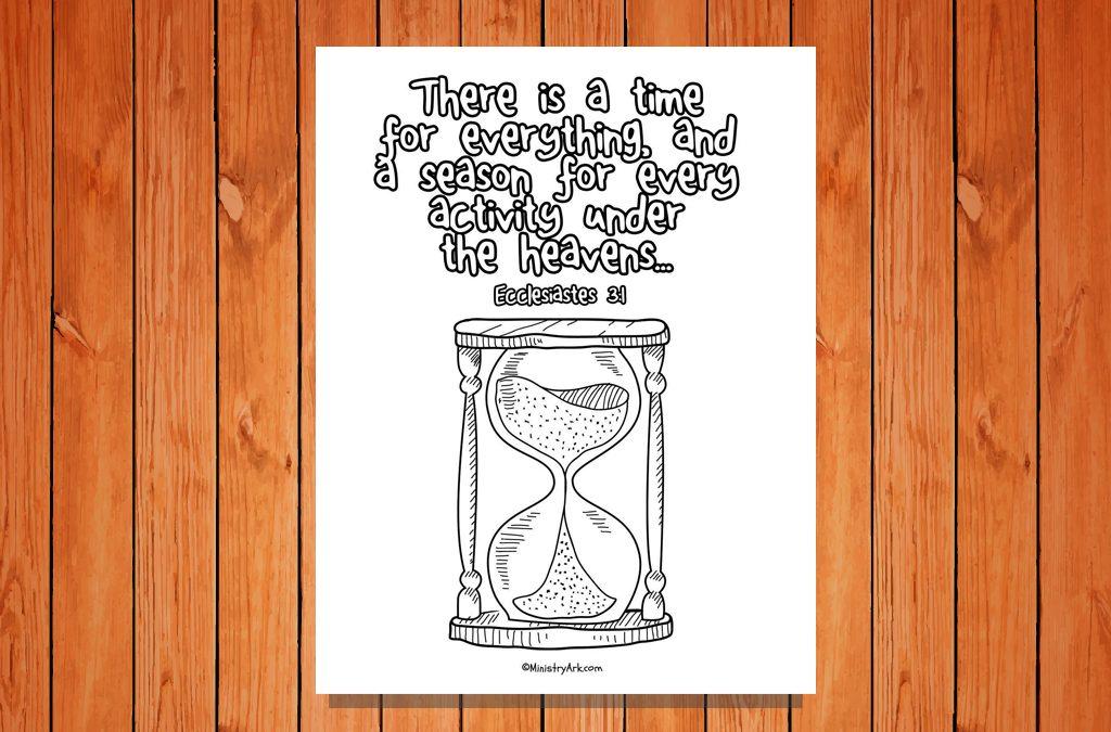 'A Time for Everything' Printable (Ecclesiastes 3:1)