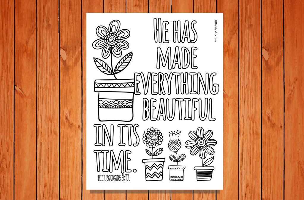 'Beautiful in Its Time' Printable (Ecclesiastes 3:11a)