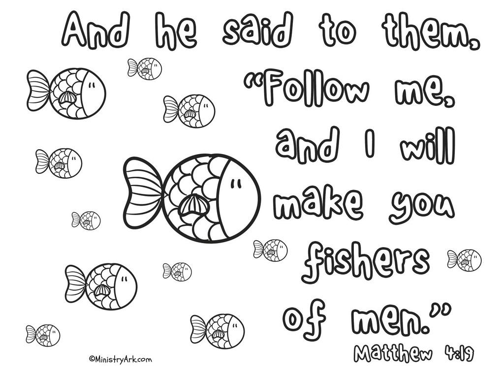 39 fishers of men 39 printable matthew 4 19 ministryark for Teach a man to fish bible verse