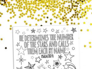 'He Calls the Stars by Name' Printable