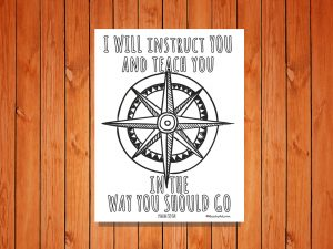 'I will Instruct You' Printable