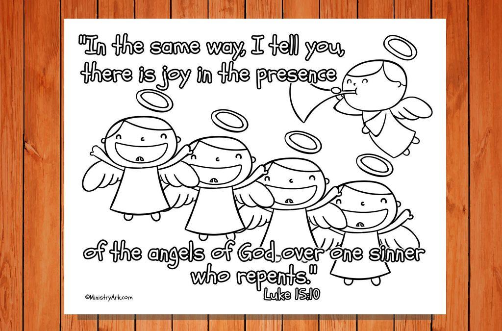 'Joy of the Angels' Printable (Luke 15:10)