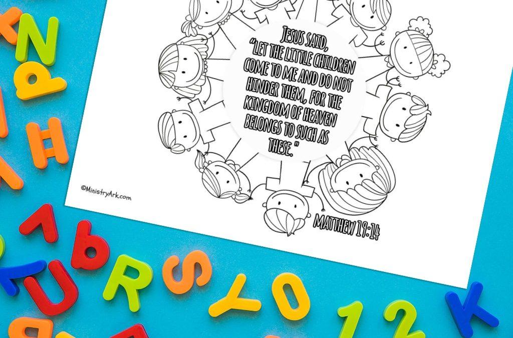 'Let the Little Children Come' Printable