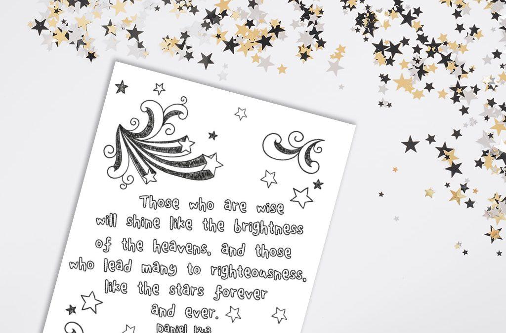 'Shine Like Stars' Printable (Daniel 12:3)