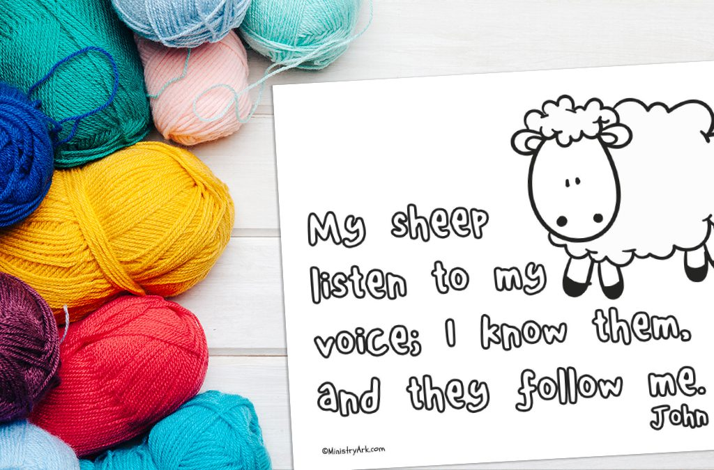 'My Sheep Listen to My Voice' Printable
