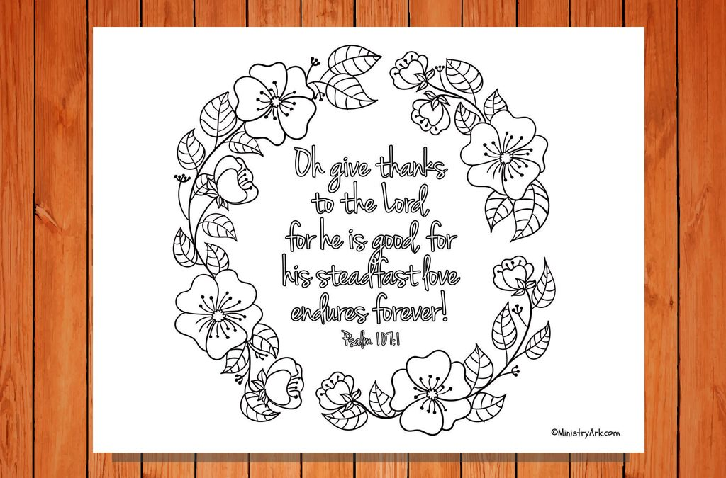 'Oh Give Thanks' Printable
