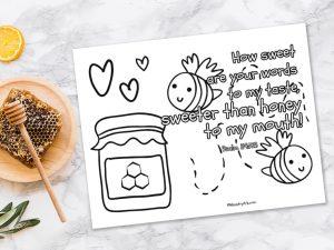 'Sweeter Than Honey' Printable (Psalm 119:103)