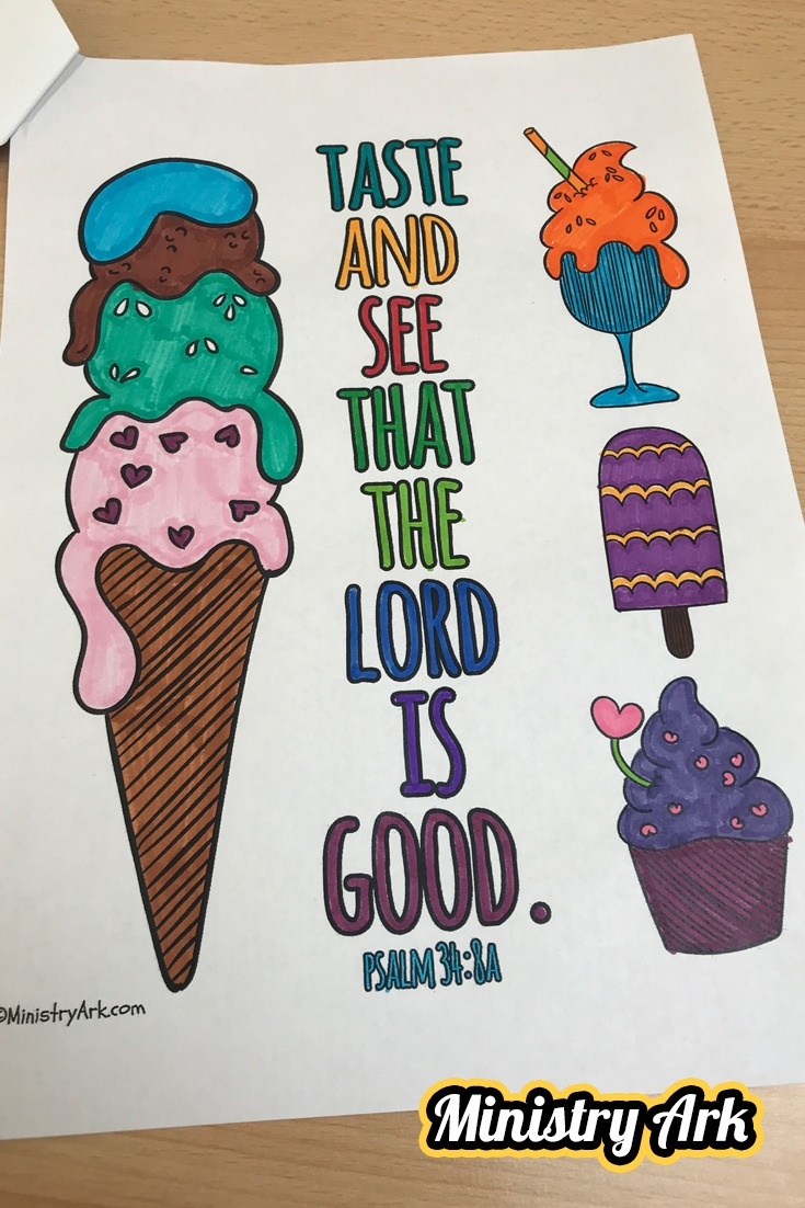 'Taste and See' Printable (Psalm 34:8a)