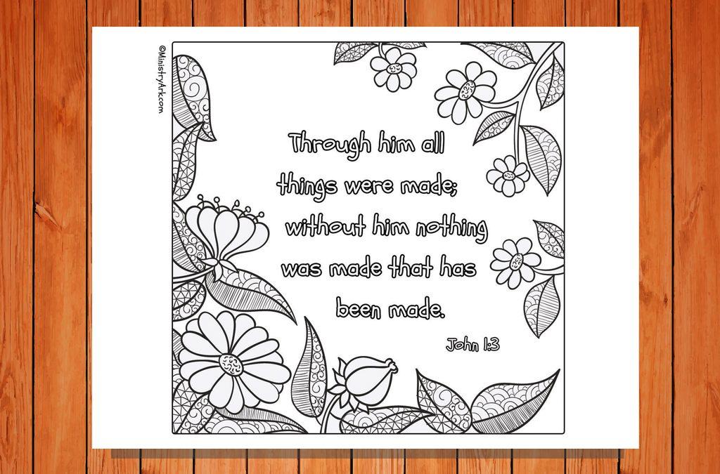 'Through Him All Things Were Made' Printable (John 1:3)