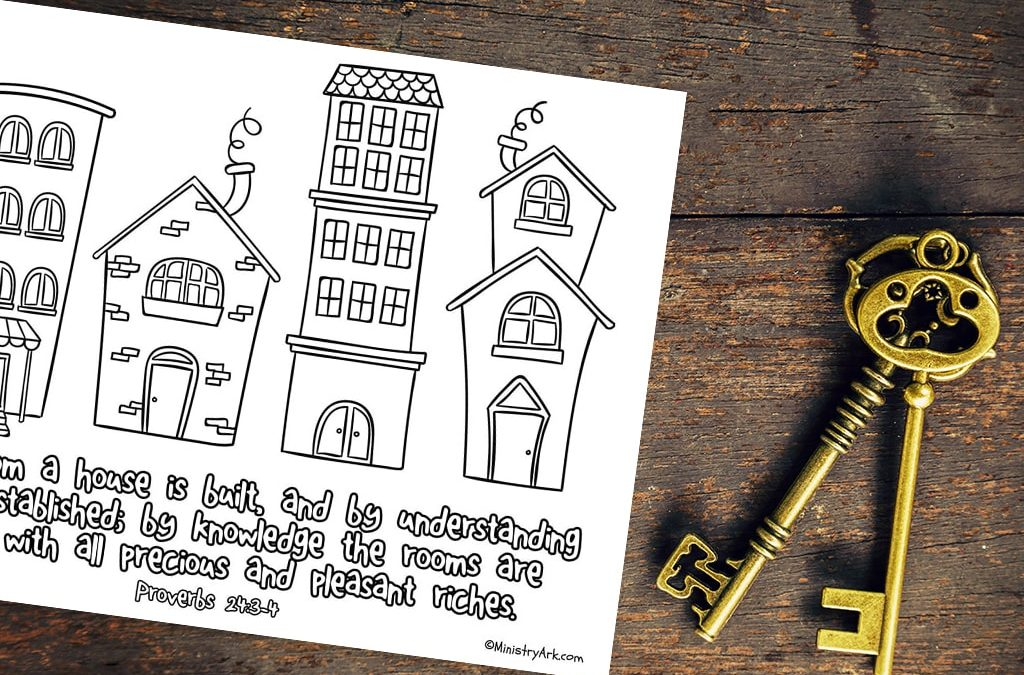 By Wisdom a House is Built Printable (Proverbs 24:3-4)