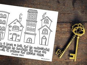 'By Wisdom a House is Built' Printable (Proverbs 24:3-4)