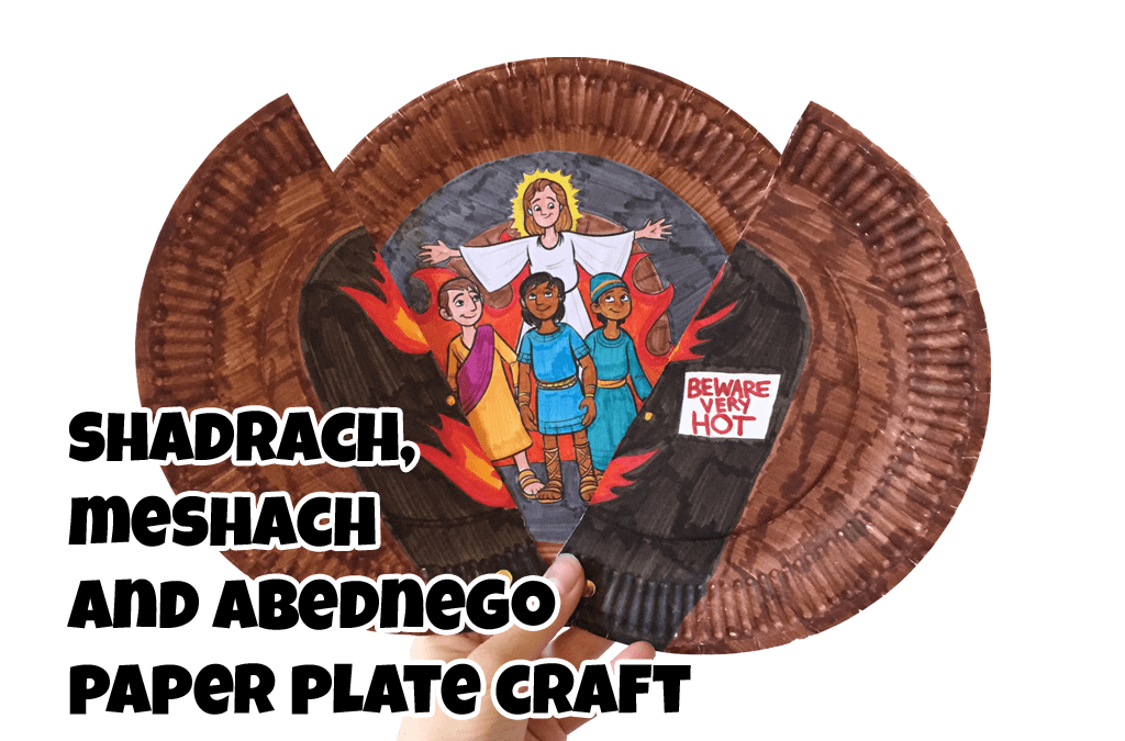 Shadrach, Meshach and Abednego Paper Plate Craft