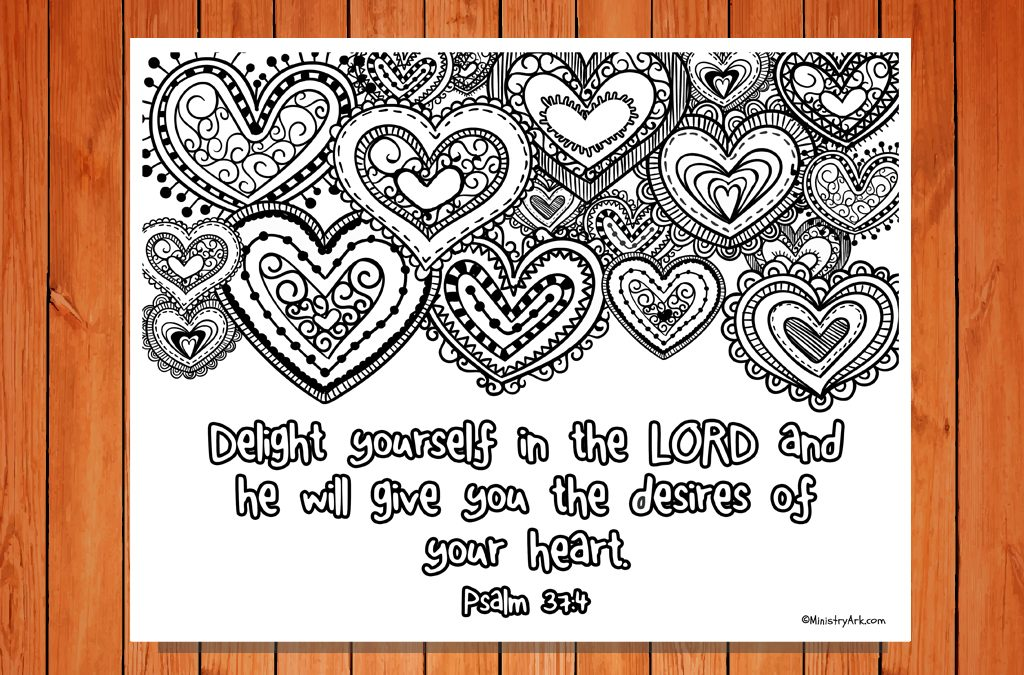 'Delight Yourself in the Lord' Printable (Psalm 37:4)