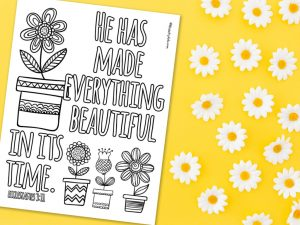 'Everything Beautiful in Its Time' Printable
