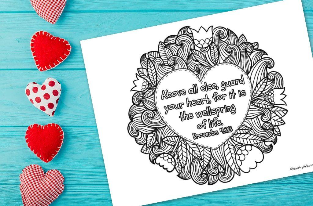 'Guard Your Heart' Printable (Proverbs 4:23)
