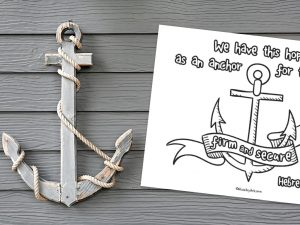 'Anchor for the Soul' printable