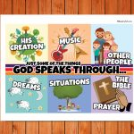 'God Speaks Through' Childrens Poster